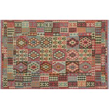 Kilim Mumin Hand-Woven Red Area Rug
