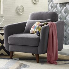 Chloe Mid-Century Modern Armchair by Elle Decor