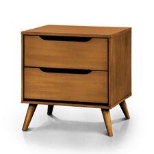 Mason Mid-Century Modern 2 Drawer Nightstand