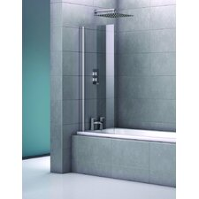 Stoney 140 x 62cm Hinged Frameless Bath Screen