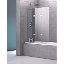 Stoney 140 x 122cm Hinged Frameless Bath Screen
