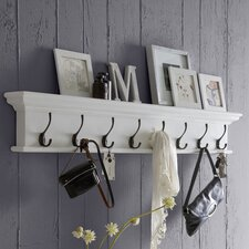 Belle Isle 8 Hook Wall Mounted Coat Rack