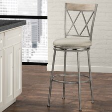 "Veronique 30"" Swivel Indoor/Outdoor Bar Stool with Cushion"