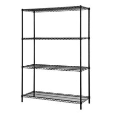 Four Shelf ES- Wire Shelving Unit by Excel Hardware