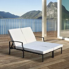 Double Sun Lounger with Cushion