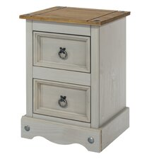 Dorado 2 Drawer Bedside Table