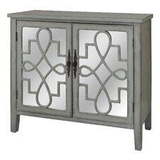 Wanlin Cabinet with Raised Scroll Detail 2 Door Accent Chest by House of Hampton