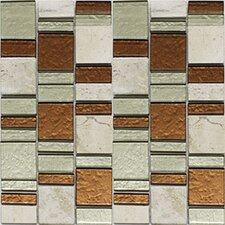 Riviera Random Sized Natural Stone/Glass Mosaic Tile in Copper