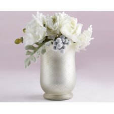 Light Champagne Frosted and Etched Pattern Glass Table Vase (Set of 12)