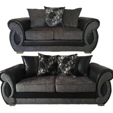 Chloe 2 Piece 3 Seater and 2 Seater Pillow Back Sofa Set