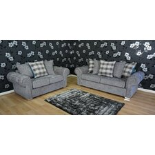 Scarpa 2 Piece 3 Seater and 2 Seater Pillow Back Sofa Set