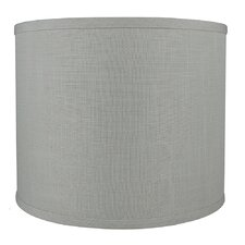 """Classic Smooth 12"""" Linen Drum Lamp Shade"""
