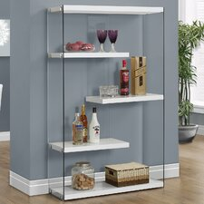 Cantrell 60 Accent Shelves Bookcase by Monarch Specialties Inc.