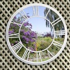 Round Garden Roman Numeral Mirror Wall Decor