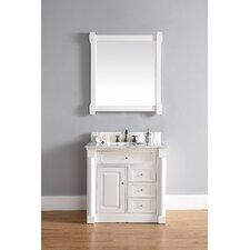 "New Haven 36"" Single Cottage White Bathroom Vanity Set"