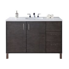 Metropolitan 48 Single Silver Oak Bathroom Vanity Set by James Martin Furniture