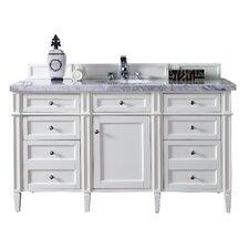 Brittany 60 Single Cottage White Bathroom Vanity Set by James Martin Furniture