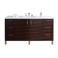 Metropolitan 60 Single Macassar Ebony Bathroom Vanity Set by James Martin Furniture