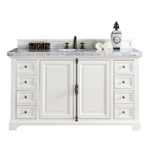 Providence 60 Single Cottage White Bathroom Vanity Set by James Martin Furniture
