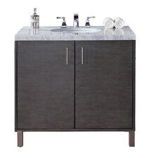 Metropolitan 36 Single Silver Oak Bathroom Vanity Set by James Martin Furniture
