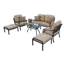 Nassau 6 Piece Deep Seating Group with Cushions by Darlee
