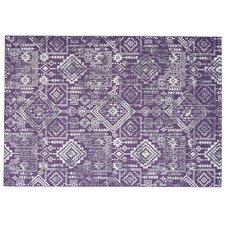 Gharass Violet Area Rug