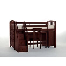 Summer Store and Study Loft Bed with Stairs