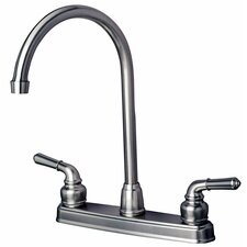 RV Mobile Home Double Handle Standard Kitchen Faucet