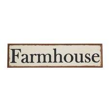 """Wood Hand-Painted """"Farmhouse"""" Wall Décor"""