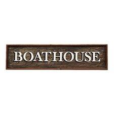 "Wood Hand-Painted ""Boathouse"" Wall Decor"