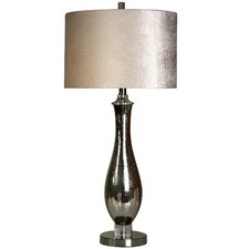 "Waterman Steel and Mercury Glass 32"" Table Lamp"