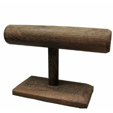 Wooden T-Bar Jewelry Stand