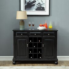 Greig 3 Drawer and 2 Door Bar with Wine Storage