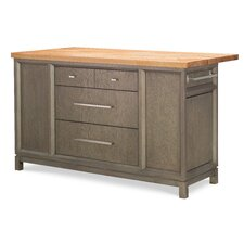 Highline by Rachael Ray Home Kitchen Island with Butcher Block