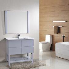 Biscayne 36 Single Bathroom Vanity with Mirror by Alya Bath