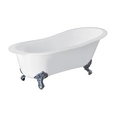 Aqua Eden Celeste Cast Iron Slipper 61.56 x 30.5 Soaking Bathtub by Kingston Brass