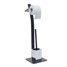 Grao Freestanding Toilet Roll and Brush Holder