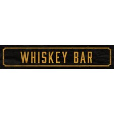 Whiskey Bar Street Sign Wall Décor