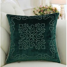 Luxury Embroidered Floral Throw Pillow Cover by G Home Collection