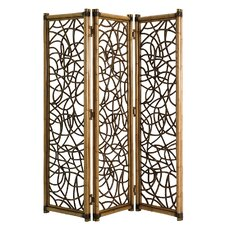80 x 70.5 Twin Palms Exuma 3 Panel Room Divider by Tommy Bahama Home