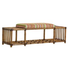 Twin Palms Fabric Storage Bedroom Bench by Tommy Bahama Home