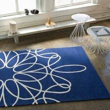 Ribbon Blue/White Area Rug