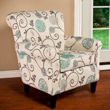 Wadham Flowered Upholstered Arm Chair by Alcott Hill®