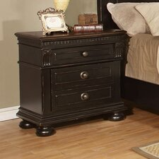 Falkensteiner 3 Drawer Nightstand by Astoria Grand