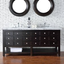 Vancouver 72 Double Cerused Espresso Oak Bathroom Vanity Set by James Martin Furniture