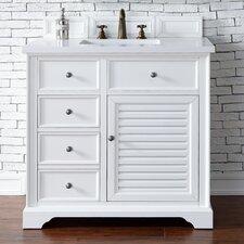 """Savannah 36"""" Single Cottage White Bathroom Vanity Set"""