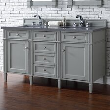 Brittany 60 Double Urban Gray Bathroom Vanity Set by James Martin Furniture