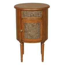 Round Storage End Table