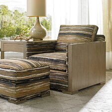Shadow Play Delshire Armchair and Ottoman by Lexington