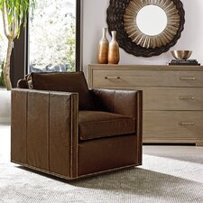 Shadow Play Hinsdale Leather Swivel Club Chair by Lexington